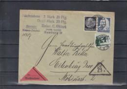 Deutsches Reich Michel Kat.Nr. 575 MiF NN - Lettres & Documents