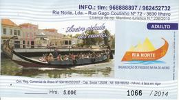 Ticket  Barque à AVEIRO (Portugal) - Biglietti D'ingresso
