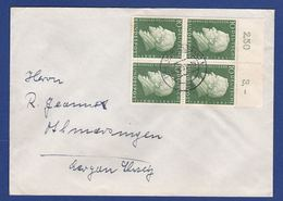 Brief Mehrfachfrankatur MiNr. 293, Bogenrand (aa0170) - [7] Federal Republic