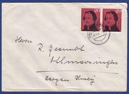 Brief Mehrfachfrankatur MiNr. 328 (aa0173) - [7] Federal Republic