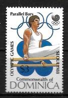DOMINIQUE   N°  1002  * *  ( Cote 4.50e) JO  1988 Gymnastique Barres Paralleles - Gimnasia