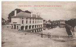 Laignes : Hôtel De Ville Et Bassin De La Laignes (Simi-bromure A. Breger Frères, Paris) - Autres Communes
