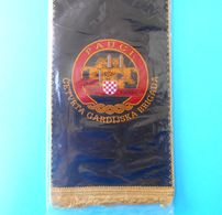 4. GARDIJSKA BRIGADA (Pauci - Split) - Croatia Army OLD LARGER Pennant * MINT * Croatie Armee Kroatien Croazia Croacia - Bandiere