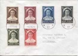 REF1008/ TP 912/917 Surtaxe Joséphine-Charlotte C.Agence Verviers *12* 4/3/54 > Schaerbeek - Poststempel