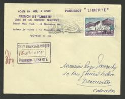 Paquebot LIBERTE / Dernier Voyage NEW YORK - LE HAVRE Arrivée 16.11.1961 - Poststempel (Briefe)