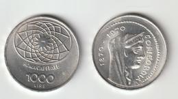 1970-Italia Repubblica-L.1000 Argento-Concordia - 1 000 Lire