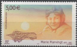 FRANCE Poste Aérienne  67 ** MNH Hommage à Marie MARVINGT Femme Pilote Avion Sanitaire Plane Vendu à La Faciale - 1960-.... Mint/hinged