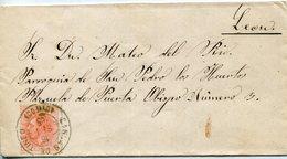 ALFONSO  XII     Carta   Nº 210a    Cangas Del Tineo  - 274 - 1875-1882 Königreich: Alphonse XII.