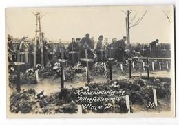 ULM AN DER DONAU (Allemagne) Camp De Prisonniers Guerre 1914-18 Carte Photo Cérémonie Au Cimetière - Ulm