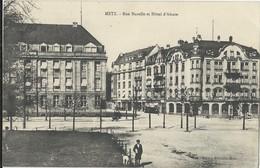 Metz  Rue Harelle Et Hotel D'Alsace - Metz