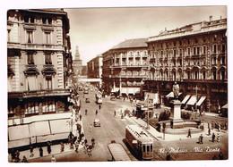 XW 1422 Milano - Via Dante - Auto Cars Voitures Tram / Viaggiata 1941 - Milano (Milan)