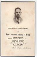 D 8 1944 Avis De Décès Engagé Volontaire De La 2e DB Brûlé Dans Son Char Dans L'Orne à 19 Ans - Marcophilie (Lettres)
