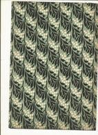 Lot 35 , 4 Feuilles Papiers Marbrés Style Feuille D' Olivier  ,pour Restauration 28 X 19 ,1930 - Loisirs Créatifs