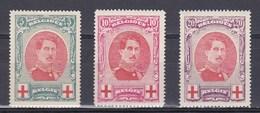 1915 Nr 132-34* Postfris Met Scharnier.Rode Kruis,Albert I.OBP 100. - 1915-1920 Albert I