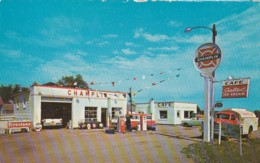 Winslow Nebraska, Samuelson Oil Co. Gas Station Service Station Auto, C1950s/60s Vintage Postcard - Autres
