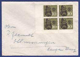 Brief Mehrfachfrankatur MiNr. 308, Eckrand (aa0233) - [7] Federal Republic
