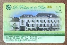 45 PITHIVIERS LE RELAIS DE LA POSTE PASSMAN CARTE 10H PRÉPAYÉE TÉLÉCARTE PHONECARD - Carte GSM, Ricarica & Prepagata