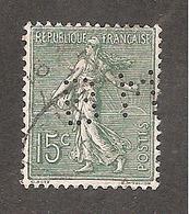Perforé/perfin/lochung France No 130 BM Banque De Mulhouse (129) - Perforés