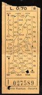 Biglietto Del Tramways Di Genova - Tramways