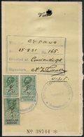 1931 GB KG5 Consular Revenue Stamps On Turkish Passport,Cyprus Visa Page. British Passport Control Constantinople Turkey - Fiscale Zegels