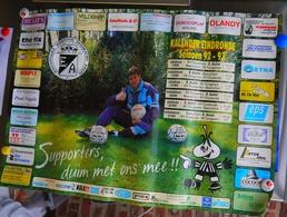 Aalst Eendracht Aalst Affiche Seizoen 1992-1993 Eindronde Ceulemans - Plakate