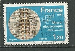 FRANCE Oblitéré 2126 Microélectronique Du CNET Microprocesseurs - Frankreich