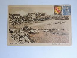 BATZ SUR MER - La Plage à L'heure Du Bain  Ref A0272 - Batz-sur-Mer (Bourg De B.)