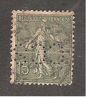 Perforé/perfin/lochung France No 130 CCS (69) - Perforés