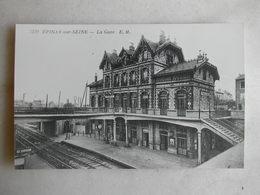 PHOTO Repro De CPA - Gare - La Gare D'Epinay Sur Seine - Trains
