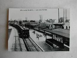 PHOTO Repro De CPA - Gare - La Gare De Juvisy - Trains