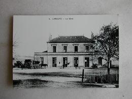 PHOTO Repro De CPA - Gare - La Gare De Limours - Trains