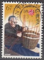 Belgique 1976 COB 1805 O Cote (2016) 0.20 Euro Europa CEPT Vannier Au Travail Cachet Rond - Belgique