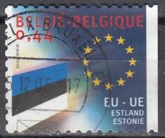 Belgique 2004 COB 3294 O Cote (2016) 1.20 Euro Drapeau D'Estonie Cachet Rond - Oblitérés