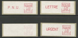 France Vignettes ATM Série Complète De 4 MNH / ** 1983 Timbres De Distributeurs LS07-75747 Tarif Postal Au 01.06.83 - 1981-84 LS & LSA Prototypes