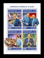 CAR 2018 Mih. 8382/85 President Of USA George H.W. Bush (I). Queen Elizabeth. Mikhail Gorbachev MNH ** - Centraal-Afrikaanse Republiek