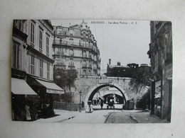 PHOTO Repro De CPA - Train - Asnières - Les Deux Voûtes (avec Train Qui Passe) - Trains