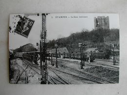 PHOTO Repro De CPA - Gare - La Gare D'Etampes - Trains