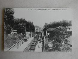 PHOTO Repro De CPA - Gare - La Gare De Meudon Val Fleury - Trains
