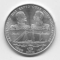Centenário Das Expedições Oceanográficas 1995 - Silver 28g - Portugal