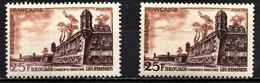 FRANCE 1955 - Y.T. N° 1042 X 2 DIFFERENTS - NEUFS** - Curiosa: 1950-59 Postfris