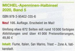 MICHEL Katalog Apenninen Halbinsel 2020 Band 5 Neu 50€ Süd-Europa : Italien Fiume San Marino Triest A Vatikanstadt - Original Editions