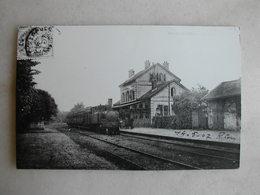 PHOTO Repro De CPA - Gare - La Gare De Luzarches - Trains