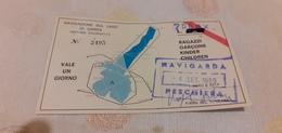 TESSERA NAVIGAZIONE SUL LAGO DI GARDA 1989 - Europa