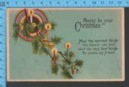 CPA Christmas Noel - Merry Be Your Christmas   - Pub:  Serie # 1192 - Post Card - Autres