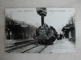 PHOTO Repro De CPA (la Vie Du Rail) - Gare - La Gare De Chaville - Rive Gauche - Trains