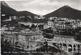 CAVA DEI TIRRENI-BADIA DELLA TRINITA E CORPO DI CAVA-1950-VERA FOTO - Cava De' Tirreni