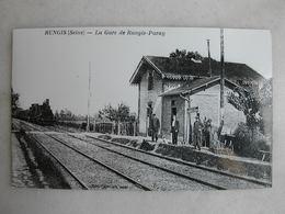 PHOTO Repro De CPA (la Vie Du Rail) - Gare - La Gare De Rungis Paray - Trains