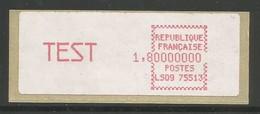 France Vignettes ATM Vignette TEST Type 4 MNH / ** 1984 Timbres De Distributeurs LS09 75513 - 1981-84 LS & LSA Prototypes