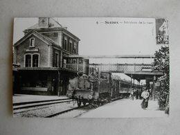 PHOTO Repro De CPA - Gare - Intérieur De La Gare De Sceaux - Trains