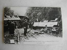 PHOTO Repro De CPA - Train - Déraillement De Nucourt - Ligne De Magny En Vexin à Chars - Le 9 Octobre 1907 - Trains